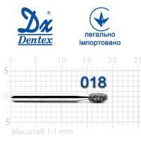 Бор  Dentex, алмазный на турбинный наконечник, 396 диаметр 018, 1шт.