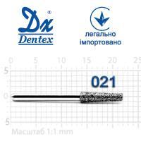 Бор  Dentex, алмазный на турбинный наконечник, 401 диаметр 021, 1шт.