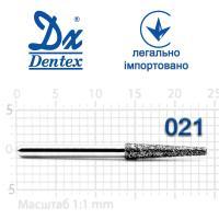 Бор  Dentex, алмазный на турбинный наконечник, 402 диаметр 021, 1шт. --