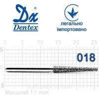 Бор  Dentex, алмазный на турбинный наконечник, 403 диаметр 018, 1шт.