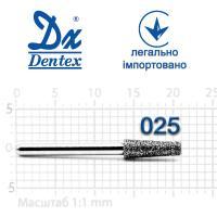 Бор  Dentex, алмазный на турбинный наконечник, 407 диаметр 025, 1шт.
