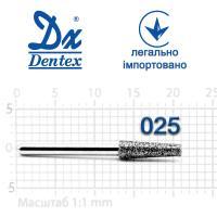 Бор  Dentex, алмазный на турбинный наконечник, 409 диаметр 025, 1шт.