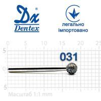 Бор  Dentex, алмазный на турбинный наконечник, 410 диаметр 031, 1шт.