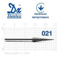 Бор  Dentex, алмазный на турбинный наконечник, 412 диаметр 021, 1шт.