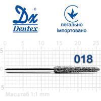 Бор  Dentex, алмазный на турбинный наконечник, 414 диаметр 018, 1шт.