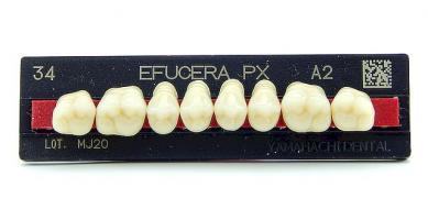 Зубы Efucera PX, жевательная группа, A2 M30, верх, 8шт.