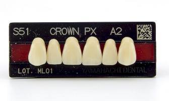 Зубы Crown PX, фронт.группа, A3, S51, верх, 6шт.