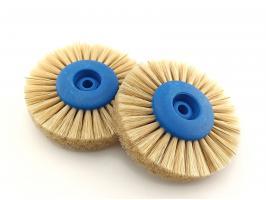 Щетка для шлифмотора зуботехническая, плотный ворс белая