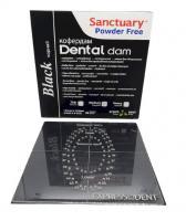 Раббердам платки Sanctuary Dental Dam, черные medium, 36шт.
