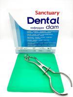 Раббердам платки Sanctuary Dental Dam, зеленые medium, 36шт.