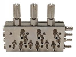 Клапан выбора инструмента 3-х-канальный НТ-083-1