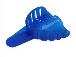 Ложка оттискная пластиковая, синяя В-2