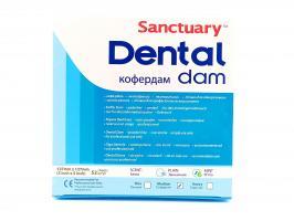Раббердам платки Sanctuary Dental Dam детские, зеленые medium, 127*127, 52шт.