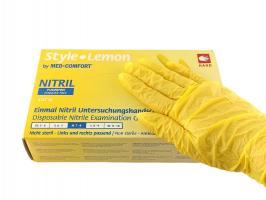 Перчатки Style, Нитрил М, желтые, 100шт.