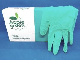 Перчатки Doman, Нитрил S, зеленые, 100шт.