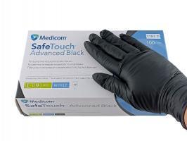 Перчатки MedicomSafeTouch Нитрил Black L плотные 5г