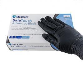 Перчатки MedicomSafeTouch Нитрил Black M плотные 5г