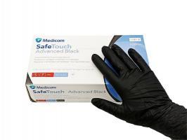 Перчатки MedicomSafeTouch Нитрил Black S плотные 5г