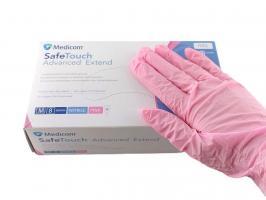 Перчатки MedicomSafeTouch Нитрил Pink M
