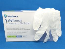 Перчатки MedicomSafeTouch Нитрил White S