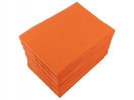 Салфетка нагрудная трехслойная оранжевая, 50шт.