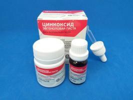 Цинкоксид-эвгеноловая паста без формальдегида ZOE paste, 25г+10мл