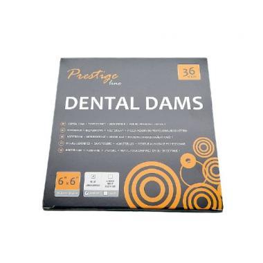 Раббердам платки Sanctuary Dental Dam, синие heavy, 36шт.