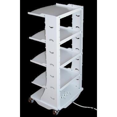 Стол мобильный, стойка приборная, для стоматолога и ассистента Вольт Volt V3 с удлинителем