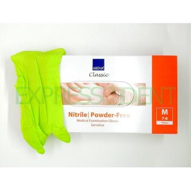 Перчатки Abena, Нитрил M, салатовые, 100шт.