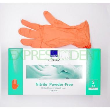 Перчатки Abena, Нитрил S, оранжевые, 100шт.