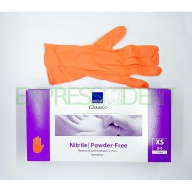 Перчатки Abena, Нитрил XS, оранжевые, 100шт.