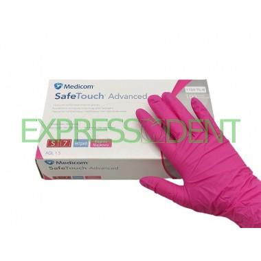 Перчатки MedicomSafeTouch Нитрил Pink S