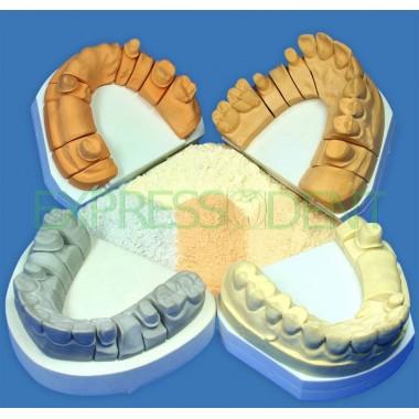 Гипс супергипс Hinriplast N, золотисто-коричневый, 2,5кг, 4 класса модифицированный акрилом