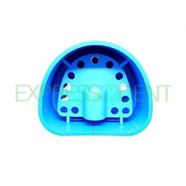 Кювета пластиковая для дублирования силиконом, синяя №2 размер 92мм*74мм