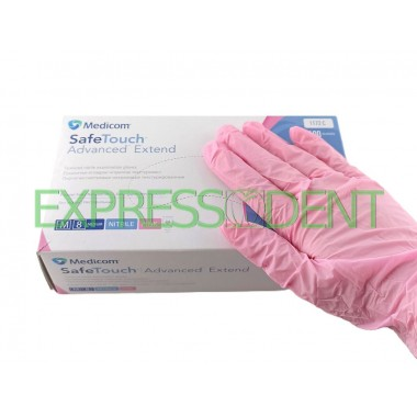 Перчатки MedicomSafeTouch Нитрил Pink XS