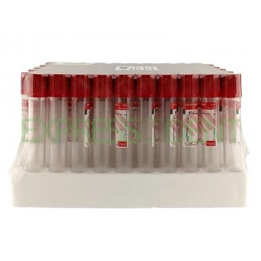 Пробирка Vacumed вакуумная с активатором сгустка 16*100мм, 9мл, красная, 1шт.
