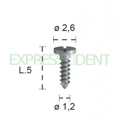 Винт для остеосинтеза титан B&BDent, длина 5мм 4шт 00391