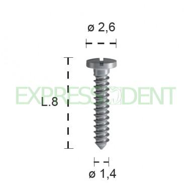 Винт для остеосинтеза титан B&BDent, длина 8мм 4шт 00392