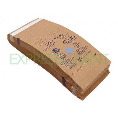 Пакеты для сухожаровой стерилизации крафт 75x150, 100шт.