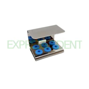 Подставка для стерилизации насадок для скалера нержавеющая закрытая, 6мест