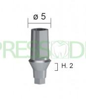 Абатмент титановый прямой, высота десны h=2мм диаметр 5мм INN-2001