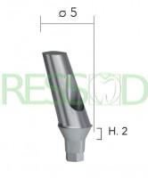 Абатмент титановый угловой 25*, высота десны h=2мм диаметр 5мм INN-2026