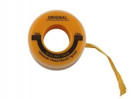 Фум лента резино-тефлоновая, ширина12мм толщина 0,1мм длина 10м