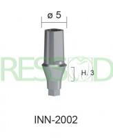 Абатмент титановый прямой, высота десны h=3мм диаметр 5мм INN-2002