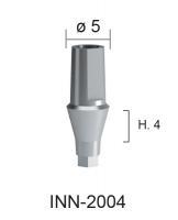 Абатмент титановый прямой, высота десны h=4мм диаметр 5мм INN-2004