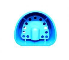 Кювета пластиковая для дублирования силиконом, синяя №1 размер 83мм*68мм