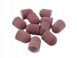 Колпачок абразивный 10*15мм розовый мелкий, 1шт.