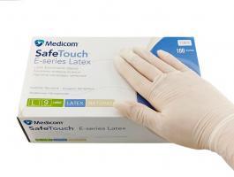 Перчатки MedicomSafeTouch Латекс припудренные L