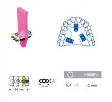 Винт ортодонтический микросекционный с U-образным концом А0801-13