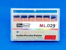 Гуттаперчевый штифт DiaDent №30, 02, 120шт.